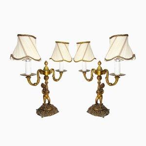 Lampade in stile Impero vintage, set di 2