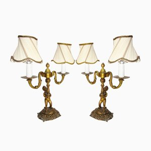 Vintage Empire Style Lamps, Set of 2