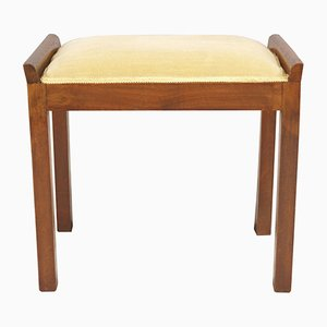 Art Deco Walnut Stool, 1920s