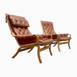 Scandinavian Lounge Chairs by Bruno Mathsson for Dux, 1950s, Set of 2