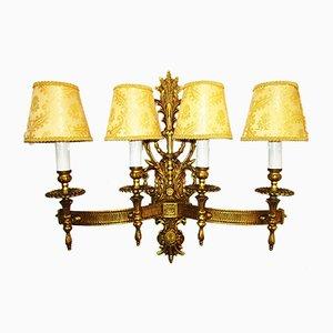 Applique grande vintage in stile Luigi XV in bronzo