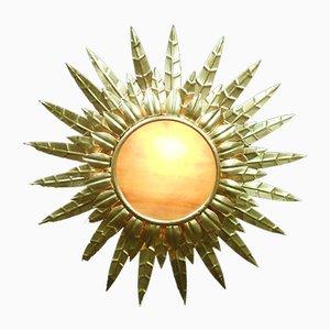 Lampada da soffitto Mid-Century in metallo dorato, anni '40