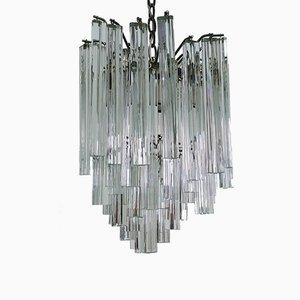 Lámpara de araña de cristal de Murano de Paolo Venini, años 70