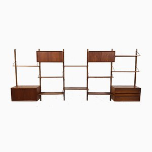Large Teak Royal System Wall Unit by Poul Cadovius, 1960s