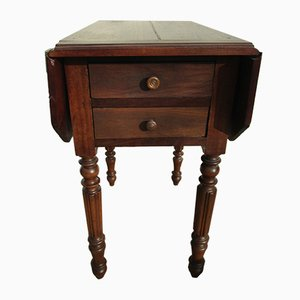 French Drop-Leaf Side Table, 1880s