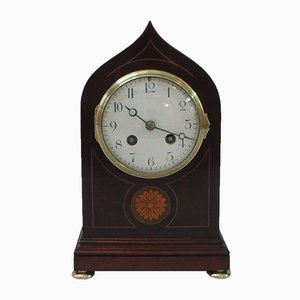 French Antique Mahogany Mantel Clock from Samuel Marti, 1900s