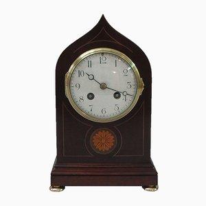 Horloge de Cheminée Antique en Acajou de Samuel Marti, France, 1900s