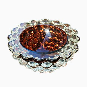 Mid-Century Murano Glass Bowl by Ercole Barovier for Barovier & Toso, 1950s