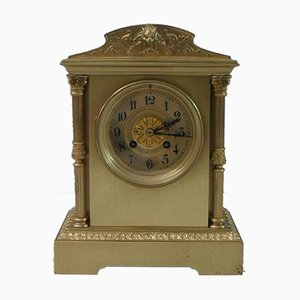 French Belle Epoque Brass Mantel Clock, 1890s
