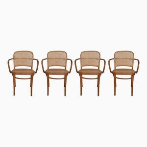 Romanian No. 811 Prague Chair by Josef Hoffmann, 1960s, Set of 4