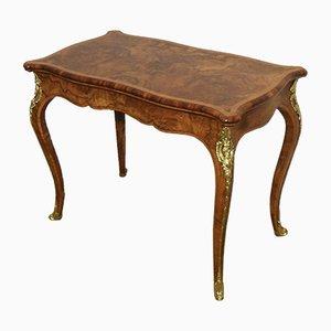 Table d'Appoint ou de Jeux Victorienne en Loupe de Noyer de Gillows, 1860s