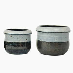 Glazed Ceramic Bowls by Drejargruppen for Rörstrand, 1974, Set of 2