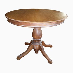 Round Vintage Extendable Table, 1970s