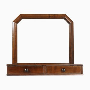 Art Deco Walnut Vanity Mirror, 1930s