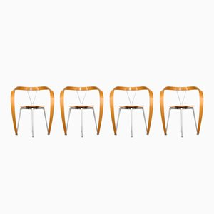 Vintage Revers Chairs by Andrea Branzi for Cassina, Set of 4