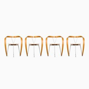 Vintage Revers Stühle von Andrea Branzi für Cassina, 4er Set
