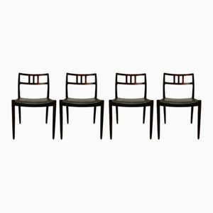 Model 79 Rosewood Dining Chairs by Niels O. Møller for JL Møller Møbelfabrik, 1950s, Set of 4