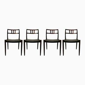 Model 79 Rosewood Dining Chairs by Niels O. Møller for JL Møller Møbelfabrik, 1950s, Set of 4