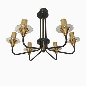 Lámpara de araña Mid-Century, años 70