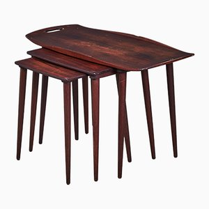 Danish Rosewood Nesting Tables by Jens Quistgaard for Nissen Naarden, 1960s