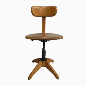 Industrial Wood Office Chair from Stoll, 1930s