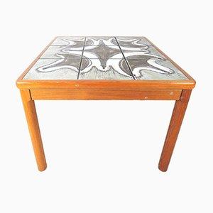Table Basse en Teck & en Carreaux de Céramique pour Trioh, 1978