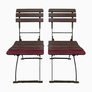 Chaises Pliantes de Jardin Vintage Industrielles, Set de 2