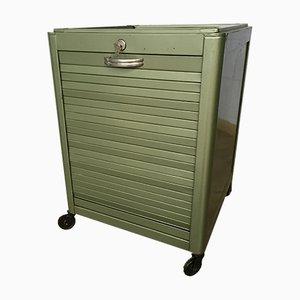 Industrieller grüner Schubladenschrank von Obbo, 1950er