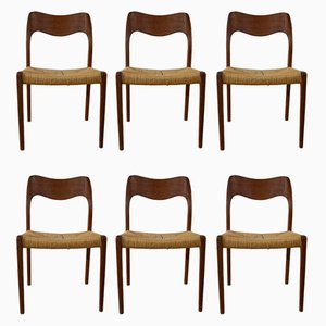 Dining Chairs by Niels O. Møller, 1960s, Set of 6