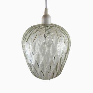 Lampe à Suspension Vintage en Verre Transparent par Paolo Venini