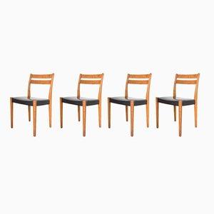 Chaises de Salle à Manger Mid-Century en Teck par Svegards Markaryd, Set de 4