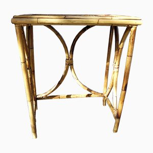 Table d'Appoint Vintage en Bambou, 1960s