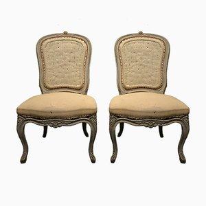 Rokoko Stühle, 1850er, 2er Set