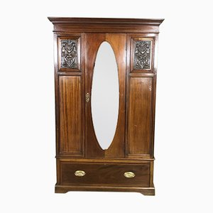 Mid-Century English Mahogany Wardrobe