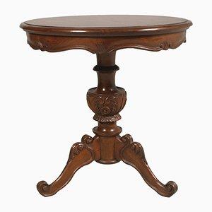 Tavolino da caffè barocco in legno di noce intagliato, anni '40