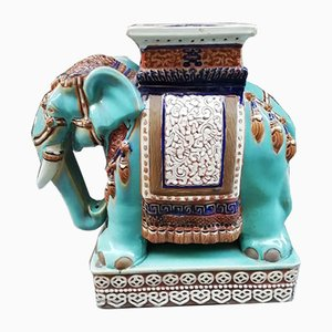 Vintage Ceramic Elephant Sculpture