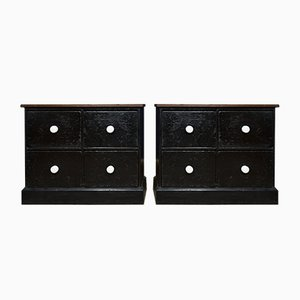 Victorian Bedside Drawers, Set of 2