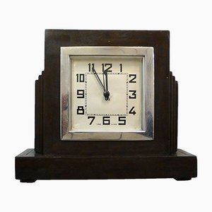 Small Wooden Table Clock, 1950s
