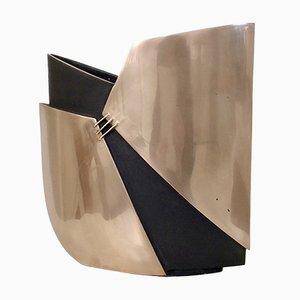 Vase aus Bronze von Esa Fedrigolli, 1970er