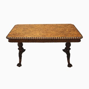 Antique George IV Pollard Oak Pillar End Table by Gillows of Lancaster