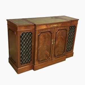 Mueble para equipo de música de caoba, años 70