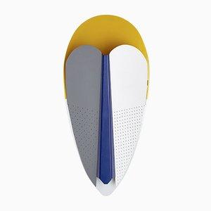 Gelbe, blaue und graue Sorcier Lampe von Marta Bakowski für La Chance