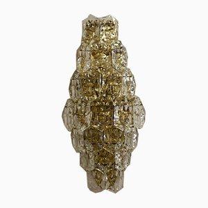 Wandleuchte aus Messing mit Kristallgläsern von Kinkeldey, 1970er