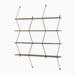 Mega Climb Regal mit Struktur aus schwarzem Nussholz von Bashko Trybek für La Chance