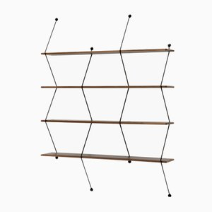 Mega Climb Storage Unit with Black Walnut Structure by Bashko Trybek for La Chance