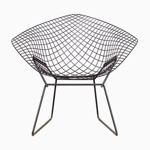 Mid-Century Drahtstuhl in Diamanten-Optik von Harry Bertoia für Knoll Inc.