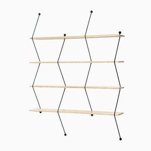 Climb Regal mit Birke und schwarzer Struktur von Bashko Trybek für La Chance