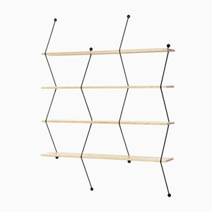 Climb Storage Unit with Birch and Black Structure by Bashko Trybek for La Chance