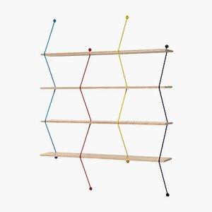 Climb Regal aus mehrfarbiger Birkenholzstruktur von Bashko Trybek für La Chance