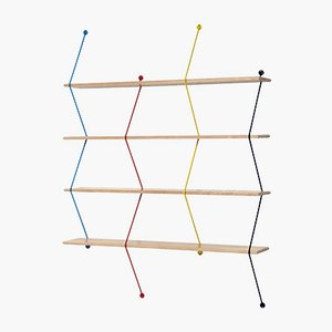 Climb Storage Unit with Multicoloured Birch Structure by Bashko Trybek for La Chance